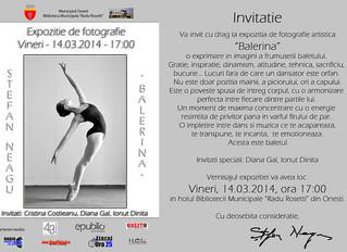 "Expozitie de fotografie Stefan Neagu -  ""Balerina"""