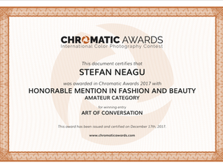 Honorable Mention at 2017 Chromatic Awards
