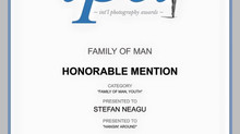 "Honorable Mention at IPA awards ""Family of Man: Youth"""