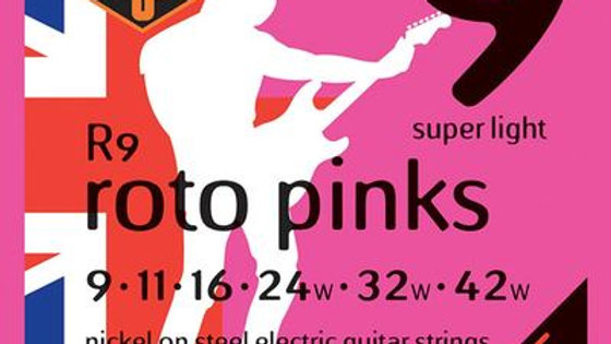 Rotosound Roto Pinks R9 Electric Guitar Strings 9-42