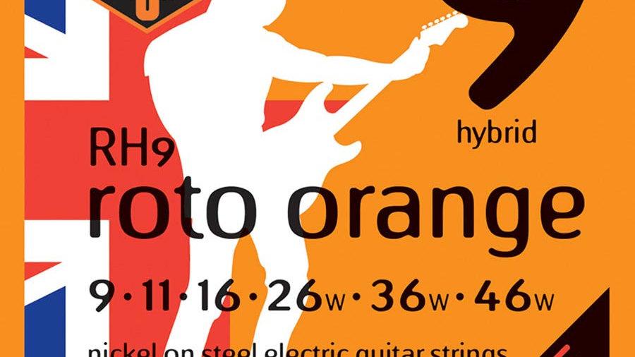 Rotosound Roto Orange RH9 Hybrid Electric Guitar Strings 9-46