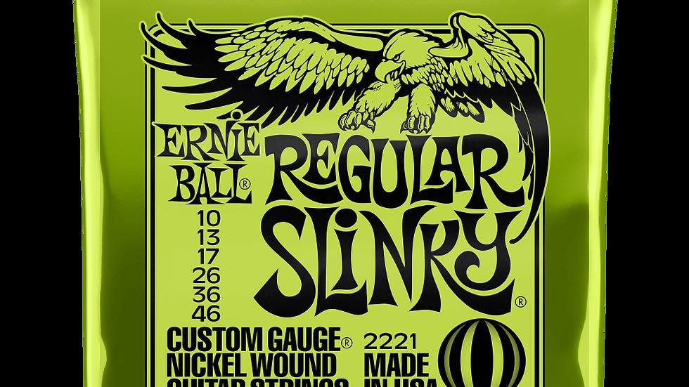 Ernie Ball Regular Slinky Electric Guitar Strings 10 - 46