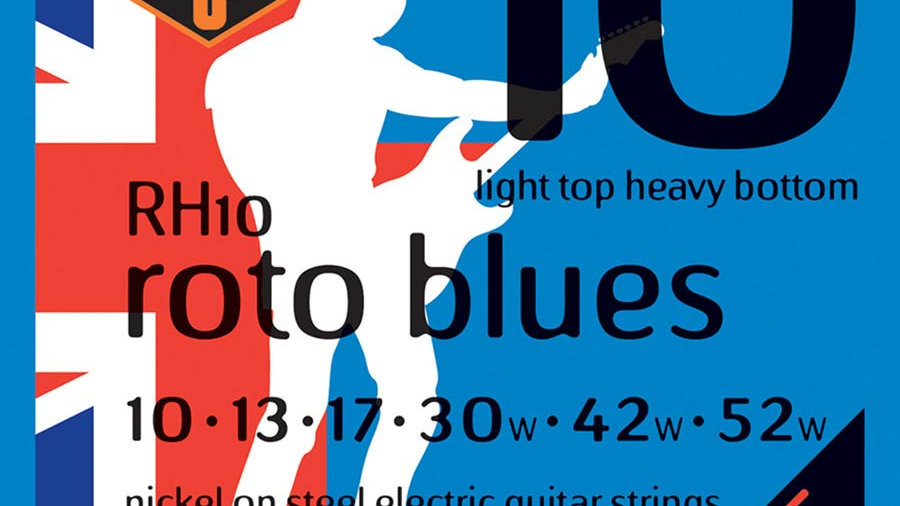 Rotosound Roto Blues RH10 Light Top Heavy Bottom Electric Guitar Strings 10-52