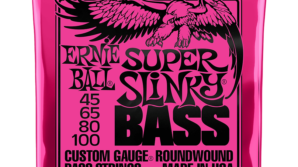 SUPER SLINKY NICKEL WOUND ELECTRIC BASS STRINGS - 45-100