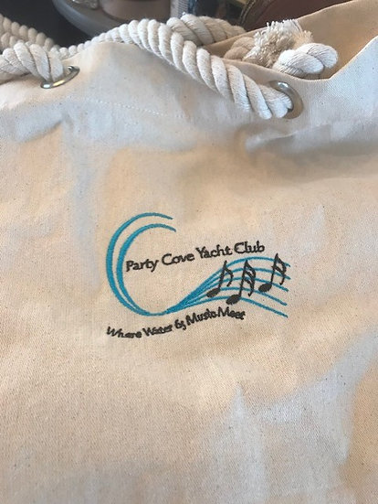 Canvas Beach Tote Bag with Fancy Rope Handles
