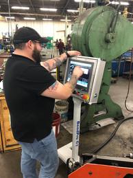 Technician Big AL setting up a new control