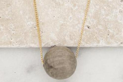 Large Bubble Necklace- Grey