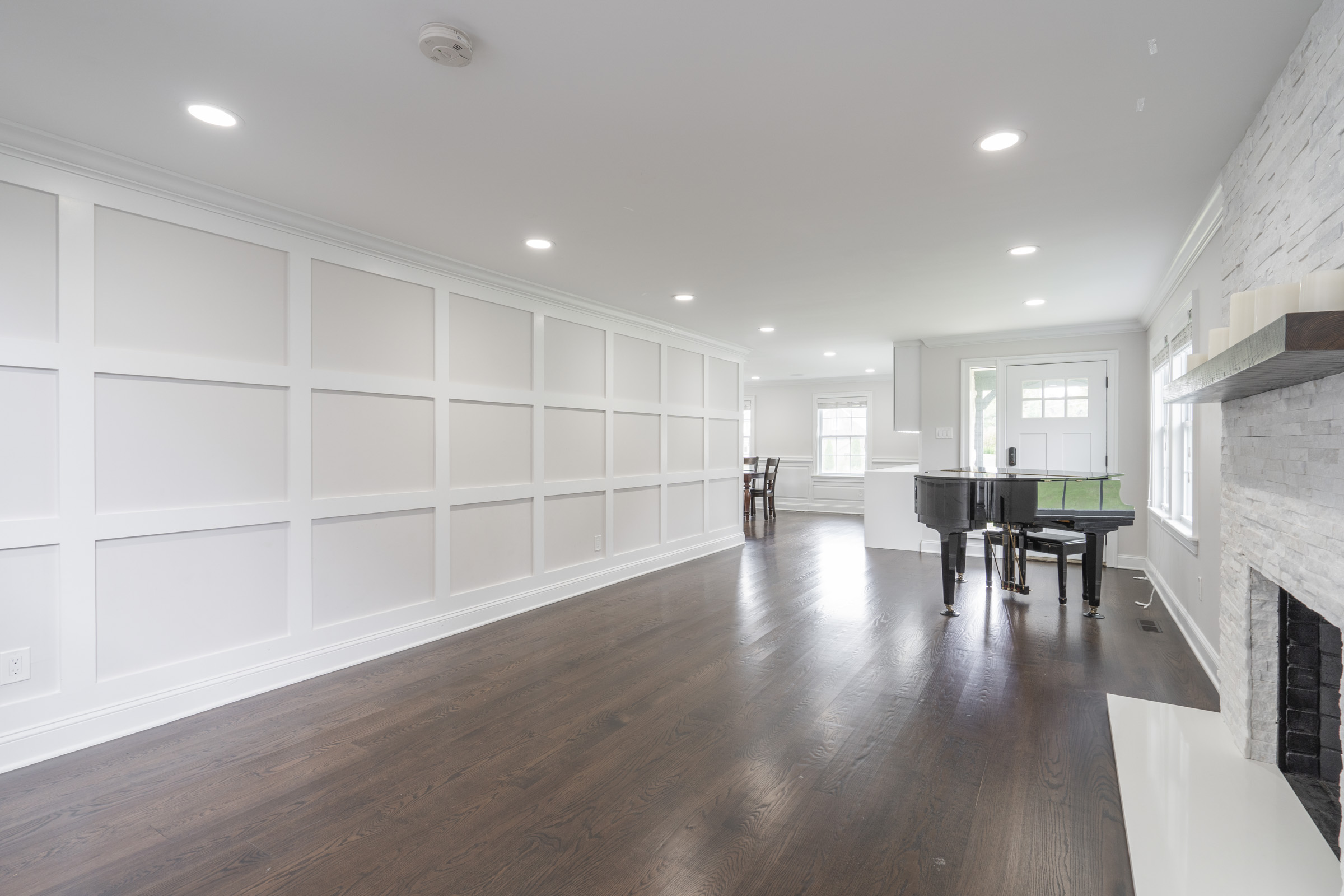 Coffered Walls Living Room
