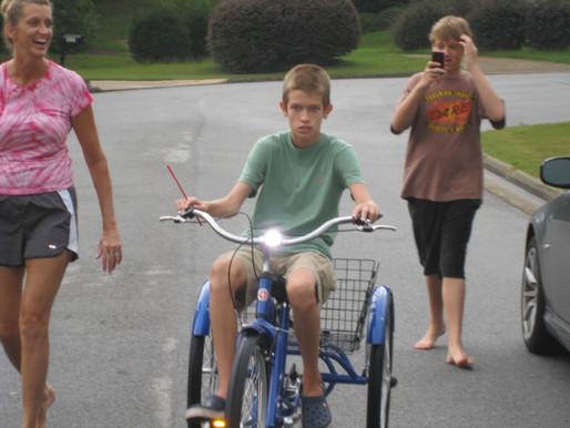 Carson gets his trike!