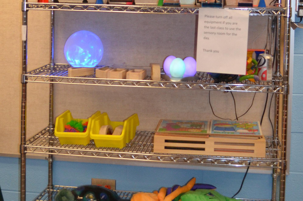 Toys, such as these, provide visual and tactile stimulus to the children.