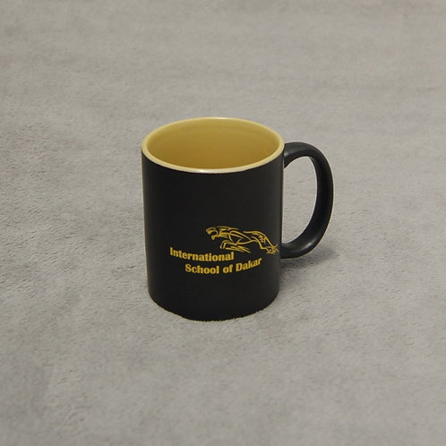 Coffee mug with ISD logo