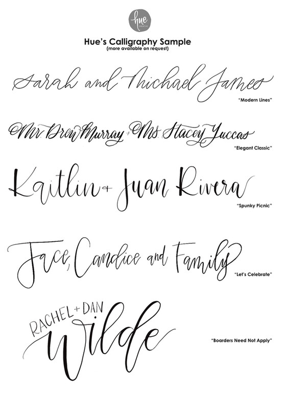 Oh The Calligraphy Options!