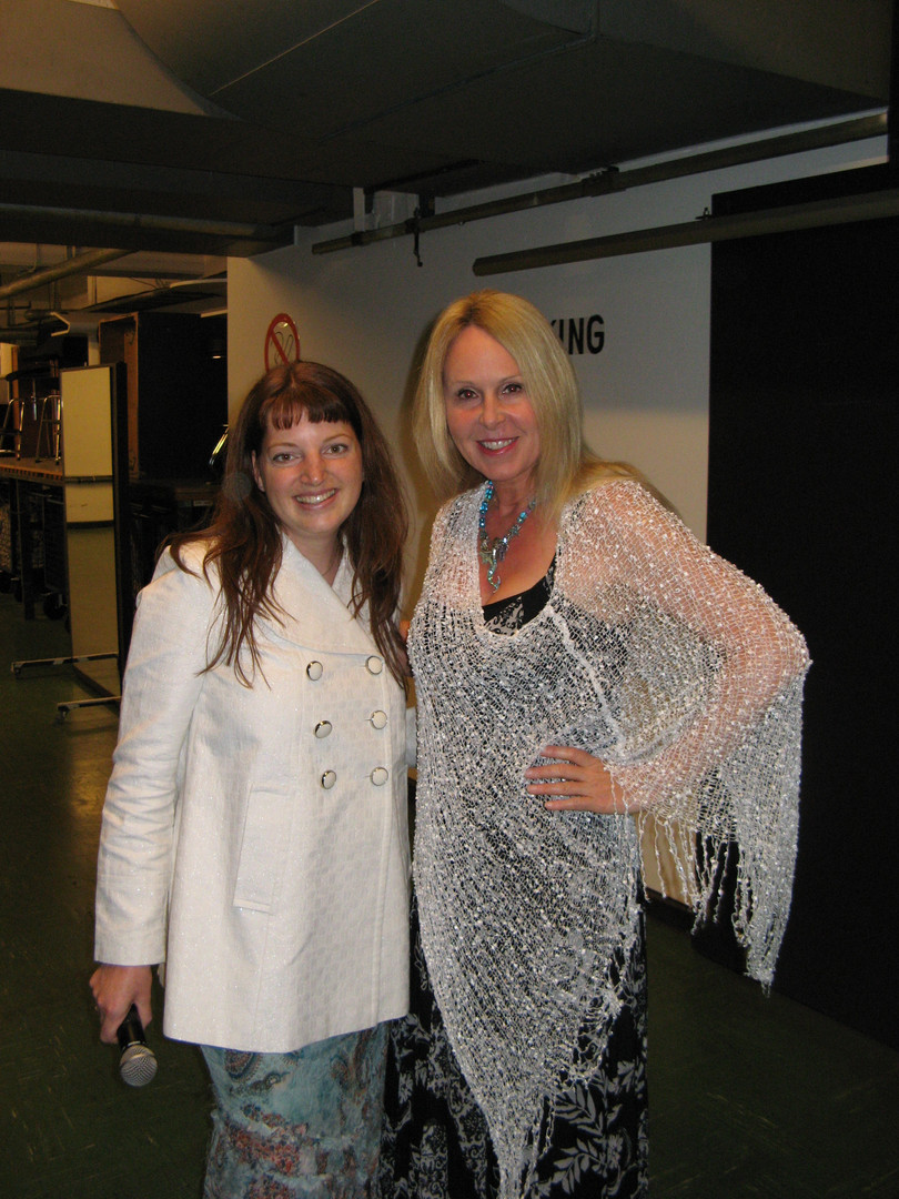 Muriel Backstage with Doreen Virtue
