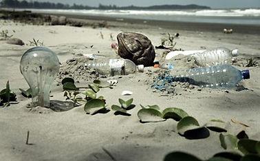O lixo marinho depositado nas praias