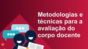 Metodologias e técnicas para a avaliação do corpo docente