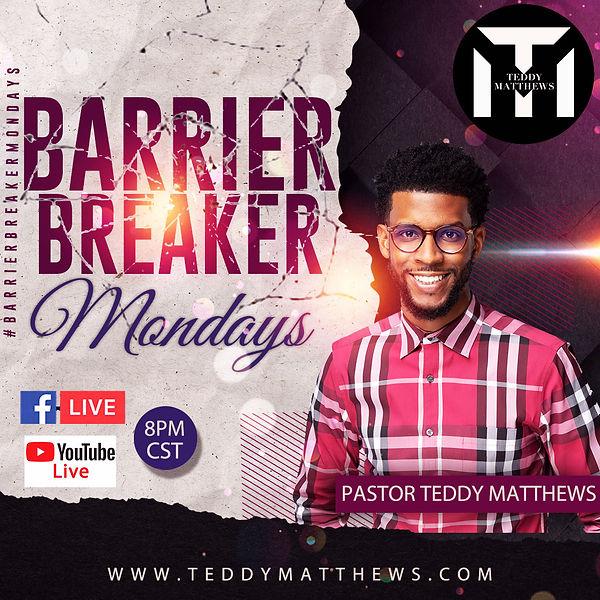 Barrier Breaking Mondays Teddy Matthews