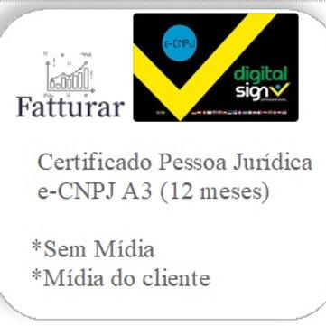 e-CNPJ A3 (12 meses) S/ Mídia