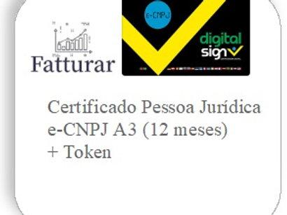 e-CNPJ A3 (12 meses) +Token