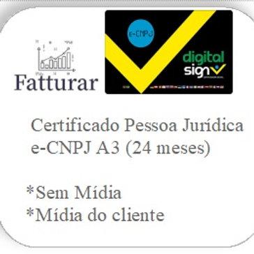 e-CNPJ A3 (24 meses) S/ Mídia