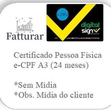 e-CPF A3 (24 meses) S/ Mídia