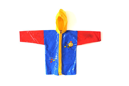 Vintage Mr.Men Red Yellow Blue Raincoat 4-5 Years