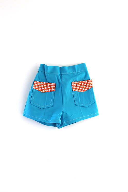 Vintage Blue 3-4 Years 1960's Summer Shorts Children's Unisex
