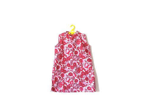Vintage 1960's Pink Floral Summer Girls Dress 5-6 Years