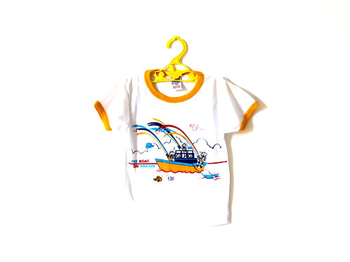 Vintage Novelty 1970's Summer Boat T-shirt 2-3 Years