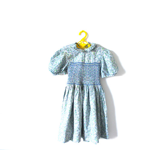 Vintage French Bluebell Peterpan Collar 1950's Dress 5-6 Years
