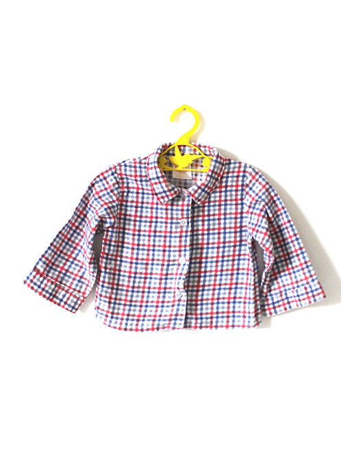 Vintage Checked 1970's Shirt 12-18 Months