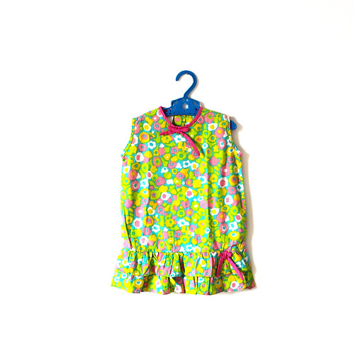 Vintage 1960's Green Summer Dress 2 Years