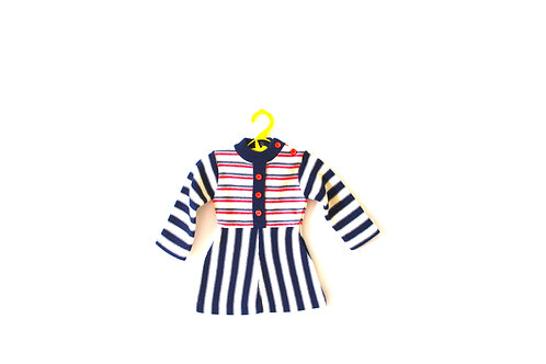 Vintage French Knit Striped Dress 1960's 3 Months