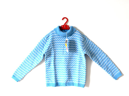 Vintage Blue 60's Jumper Turtleneck Age 6