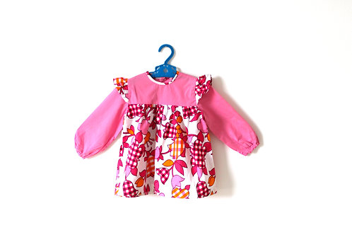 Vintage Girls Pink Floral 60's Dress 2-3 Years