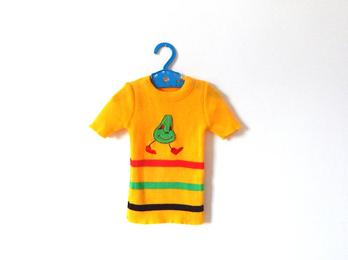 Mr Pear Unisex Vintage 60s T-shirt Knit 12 Months
