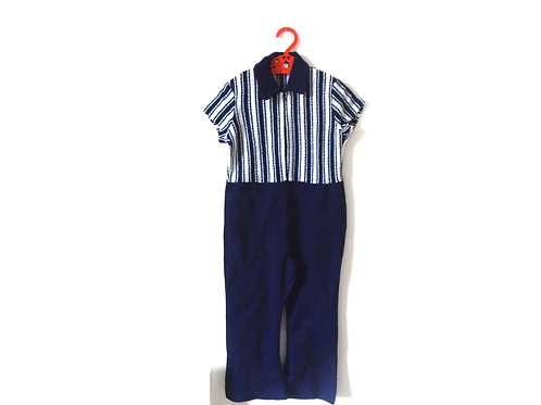 Vintage 60' Blue and White Playsuit 4-5 Years