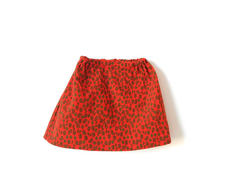 Vintage Red Girls Paisley Summer Skirt 3-4 Years