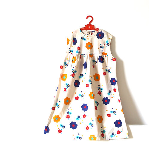 Vintage 1960's Shift Floral Dress Daisy 8 Years