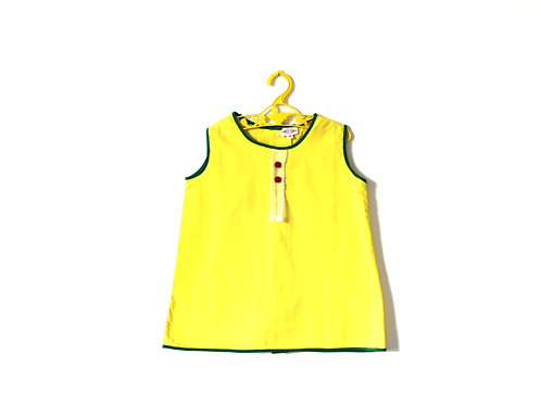 Vintage 1960's Yellow Mod Spring Summer Shift Dress 2-3 Years