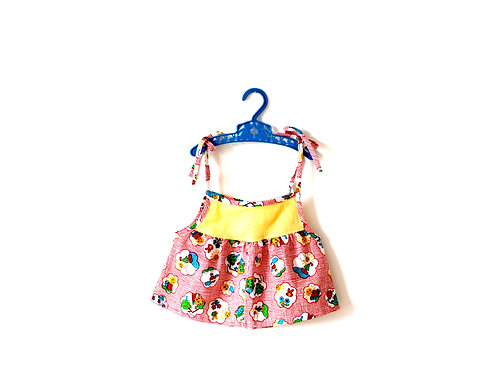 Vintage 1970's Summer Sun Patterned Top 2-3 Years