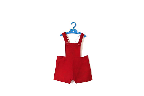 Vintage 1960's Red Shorts Romper