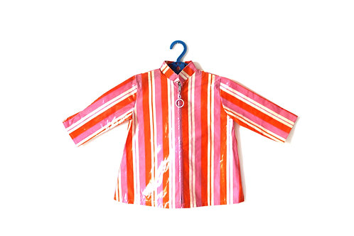 Vintage 1960's Stripe Rain Mac Coat 12-18 Months