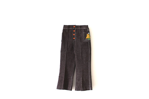 Vintage 1970's Brown Flared Trousers 5 Years