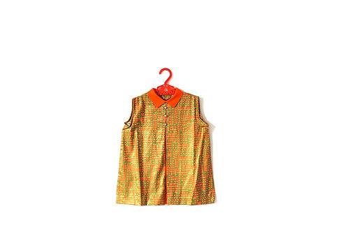 Vintage Pumpkin Autumn Girls  Dress 2-3 Years Orange