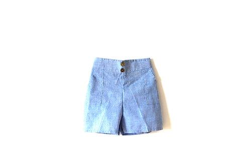 Vintage 1950's Pale Blue Cotton Shorts 18 Months