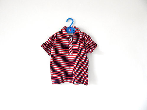 Vintage 1950's Striped Polo Shirt 2-3 Years
