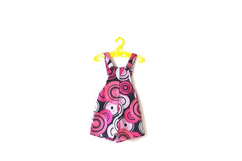 Vintage 1960's Pink Spiral Romper Dungarees 12-18 Months