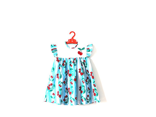 Vintage 1950's Summer Cherry Dress Age 4-5