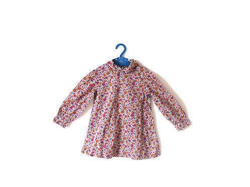 Vintage Floral Pink 1960's Dress 2-3 Years