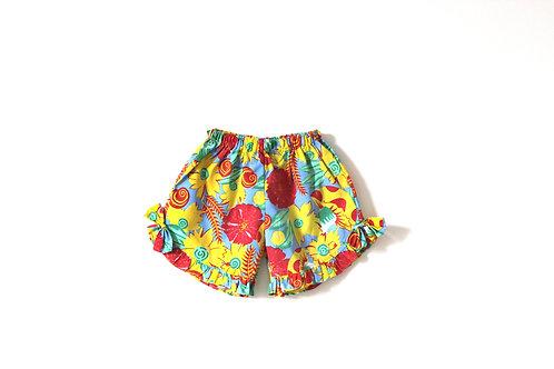 Vintage Girls Summer Floral Shorts Age 6-7